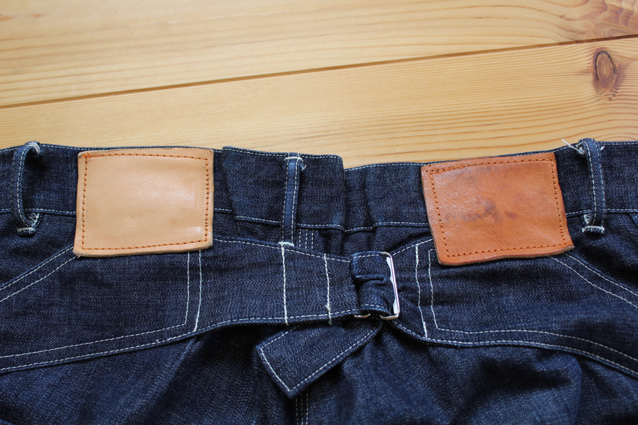 革の着用テスト