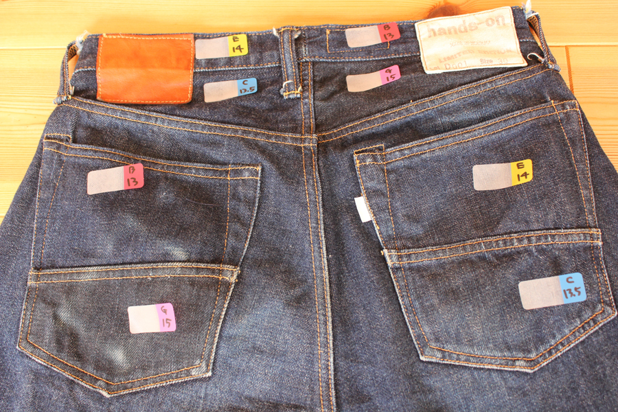 1st Test Sample Jeans 穿き込み480時間