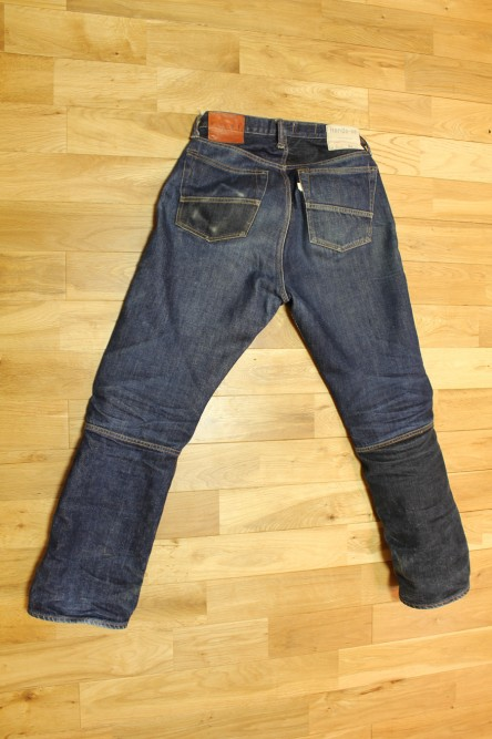 1st Test Sample Jeans 穿き込み751.5時間