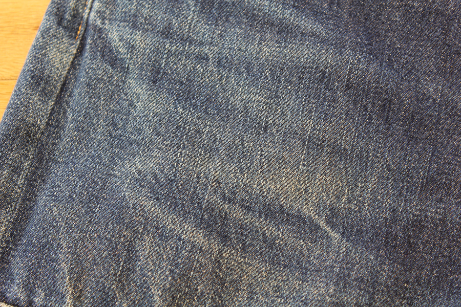 1st Test Sample Jeans 穿き込み950時間