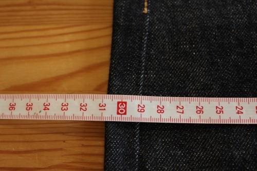 bridge 2nd CRのサイズチャート・サイズの測り方・サイズ選びの注意点・スソ上げについて