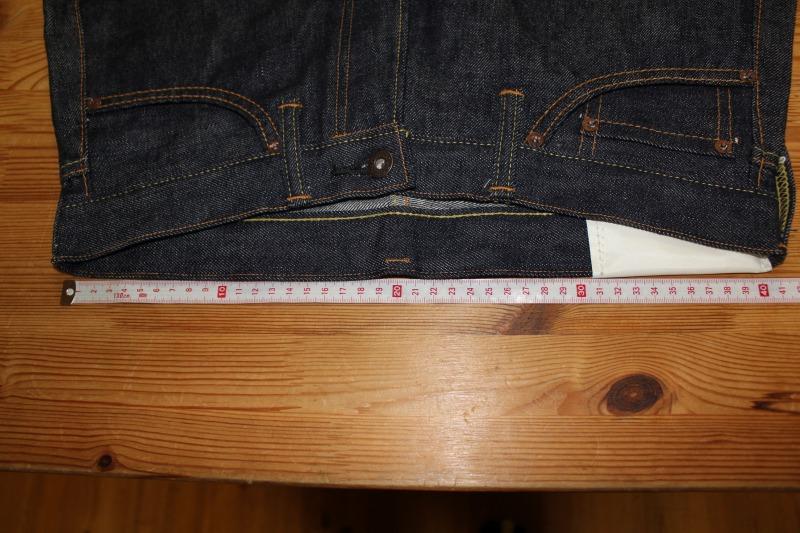 bridge 3rd modelのサイズチャート・サイズの測り方・サイズ選びの注意点・スソ上げについて